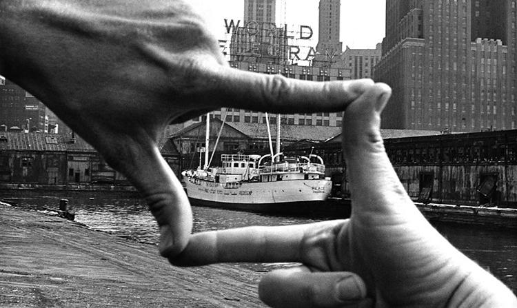 Hands Framing New York Harbor by John Baldessari.