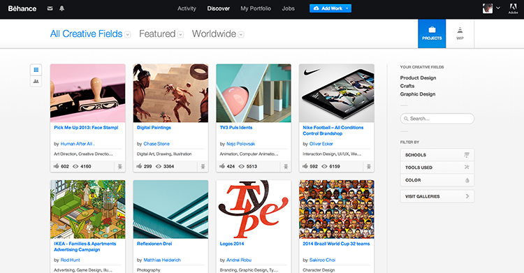 Behance is one of the most used online portfolio platforms.