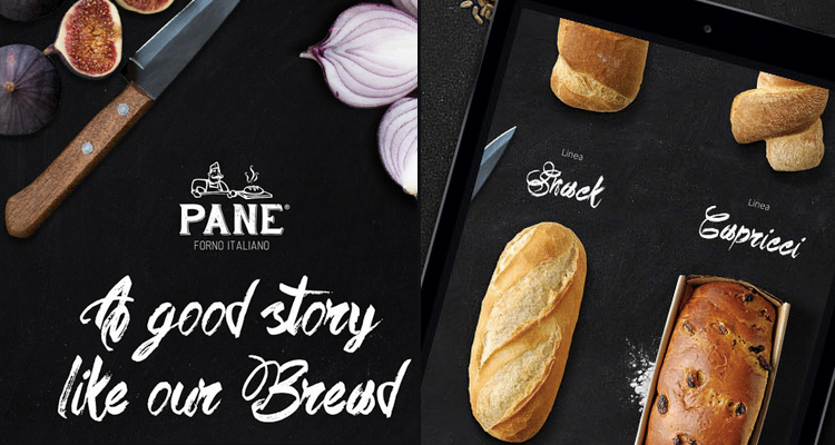 The branding project for Pane Forno Italiano is presented in a very integrated way where all the project elements are actually merged into a layout tell visually tells the story of the brand itself. Check it out on behance.