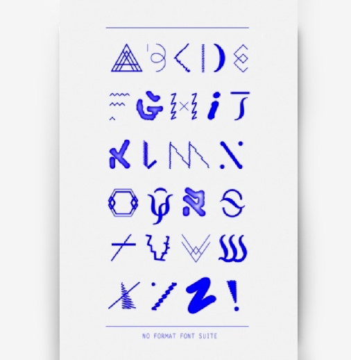 <em>Another example</em> of using ethnic inspired typography: No Format by <a href='http://www.ashleaoneill.com/TYPOGRAPHY/noformat.html'>Ashlea O'neill</a> (Australia).
