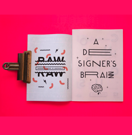 In this experimental magazine designed by <a href='https://www.behance.net/gallery/Salt-Wood-Zine/13406541'>Oddds</a> (Singapore), lines and wiggles are the only visual elements we find in the design, but still they create a complete and visually rich composition.
