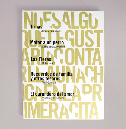 Here the slash is used as a connector to add an original touch to this book cover. Designed by <a href='http://bit.ly/17RMPqI'>Eduardo Paso Viola</a> (Argentina).