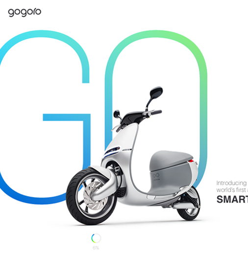 This high-tech look projecting website for the <a href='http://www.gogoro.com' target='_blank'>SmartScooter</a> combines a simple look with the latest interactive subtleties (transitions, videos, moving text, etc.) found in web design. The brand image is very well created and reflects what the product is all about.